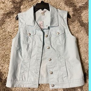 NWT Christopher & Banks embroidered vest size M